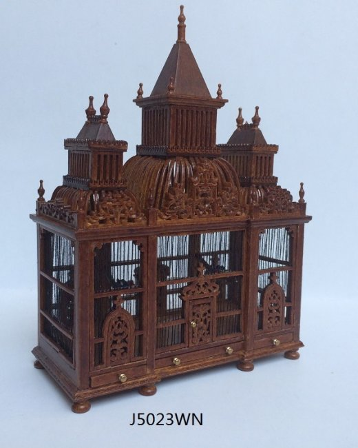 FAST DELIVERY VICTORIAN BIRDS Miniature Dollhouse Art Picture MADE IN AMERICA
