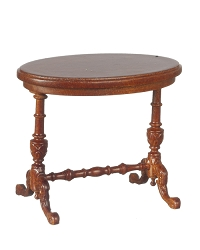 1:12 Scale JBM Miniature Victorian Walnut Side Table