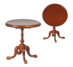 1:12 Scale JBM Miniature Victorian Walnut Tilt Top Table