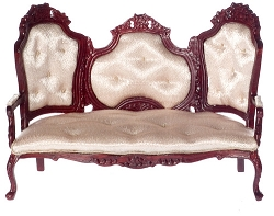 1:12 Scale Platinum Miniature Rococo Sitting Room Collection (Rose & Mahogany)