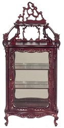 1:12 Scale Platinum Miniature Victorian Mahogany Display Cabinet