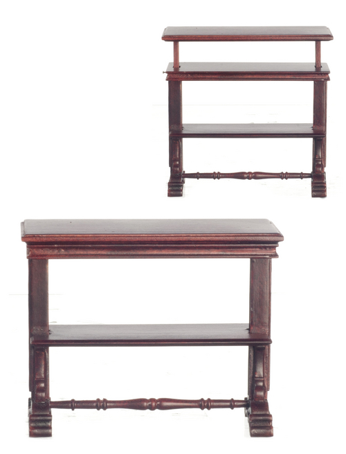 Dollhouse Miniature English 3-Tier Buffet in Mahogany Platinum Collection