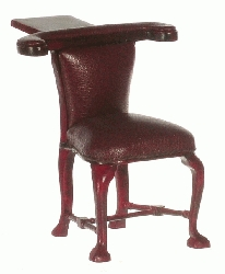 1:12 Scale Platinum Miniature Mahogany Reverse Reading Chair
