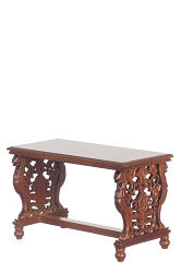 1:12 Scale Miniature Gryphon Walnut Library Table