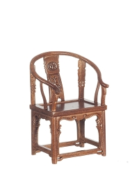 1:12 Scale Platinum Miniature 1850 Horseshoe Walnut Armchair