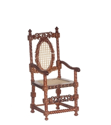 1:12 Scale Platinum Miniature 1660 Dutch Walnut Armchair