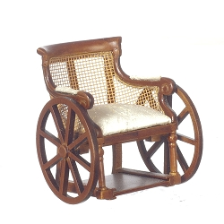 1:12 Scale Platinum Miniature Victorian Walnut Wheelchair