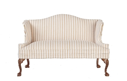1:12 Scale Platinum Miniature Queen Anne Walnut Loveseat