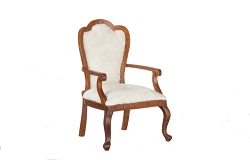 1:12 Scale Platinum Miniature Queen Anne Walnut Armchair