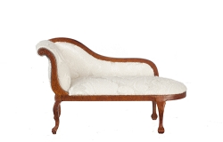 1:12 Scale Platinum Miniature Queen Anne Walnut Chaise Lounge