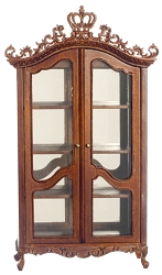 1:12 Scale Platinum Miniature Royal Etienne Walnut Hutch