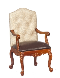 1:12 Scale Platinum Miniature George VI Walnut Armchair