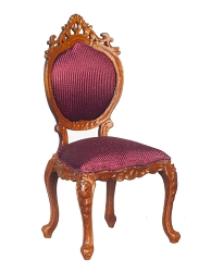 1:12 Scale Platinum Miniature Queen Anne Walnut Side Chair