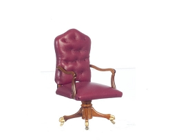 1:12 Scale Platinum Miniature Governor's Walnut Desk Chair