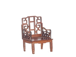 1:12 Scale Platinum Miniature Beijing Chinese Walnut Armchair