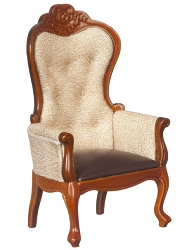1:12 Scale Platinum Miniature Nouveau Riche Walnut Armchair