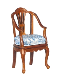 1:12 Scale Platinum  Miniature Wilson Walnut Armchair