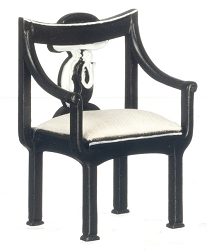 1:12 Scale Platinum Miniature Eileen Gray Serenity Chair