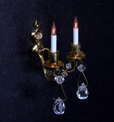 1:12 Scale Miniature Renaissance Dual Candle Wall Sconce