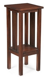 1:12 Scale JBM Miniature Mission Tall Square Walnut Side Table
