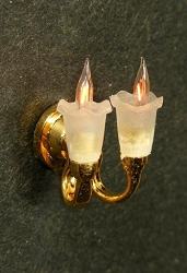 1:24 Scale Cir-Kit Miniature Dual Tulip Wall Sconce
