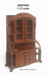 1:12 Scale JBM Miniature Art Nouveau Walnut Dresser