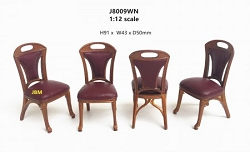 1:12 Scale JBM Miniature Art Nouveau Walnut Chair