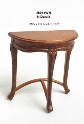 1:12 Scale JBM Miniature Art Nouveau Walnut Side Table