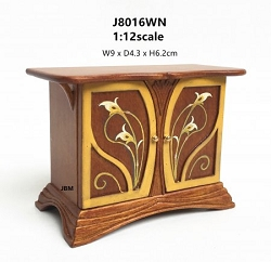 1:12 Scale JBM Miniature Art Nouveau Walnut Sideboard