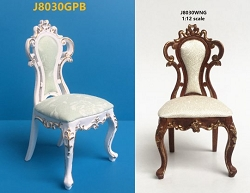 1:12 Scale JBM Miniature Late Victorian American Bedroom Chair (White/Walnut)