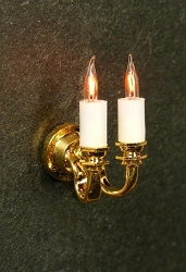1:24 Scale Cir-Kit Miniature Dual Candle Wall Sconce