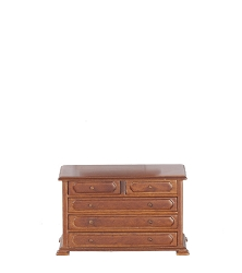 1:12 Scale JBM Miniature Country Walnut Dressing Table