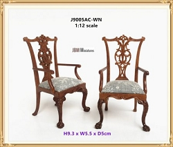1:12 Scale JBM Miniature 1760 Chippendale Armchair