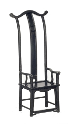 1:12 Scale JBM Miniature Art Deco Chair - Black