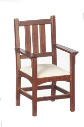 1:12 Scale JBM Miniature 1909 Mission Slatback Armchair