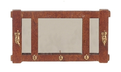1:12 Scale JBM Miniature Mission Walnut Mirror with Hooks
