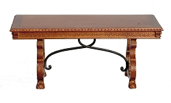 1:12 Scale JBM Miniature 17th C. Spanish Walnut Dining Table