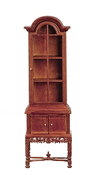 1:12 Scale JBM Miniature 18th C. Petite Walnut China Cabinet
