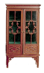 1:12 Scale JBM Miniature 18th C. Walnut Display Cabinet