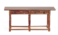 1:12 Scale JBM Miniature 16th c. Walnut Spanish Refectory Table
