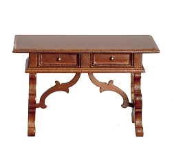 1:12 Scale JBM Miniature Late Renaissance Spanish Walnut Writing Table