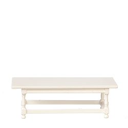 1:12 Scale JBM Miniature Cottage White Sofa Table