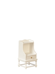 1:12 Scale JBM Miniature Cottage White End Table