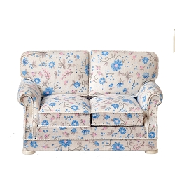 1:12 Scale JBM Miniature Cottage Flowers Sofa