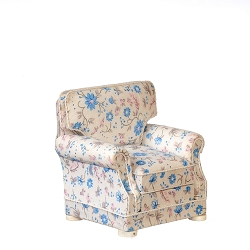 1:12 Scale JBM Miniature Cottage Flowers Armchair