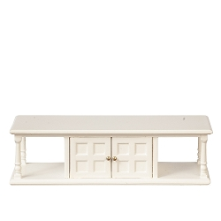 1:12 Scale JBM Miniature White Sofa Table