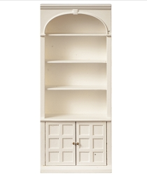 1:12 Scale JBM Miniature White Bookcase