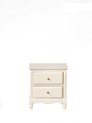 1:12 Scale JBM Miniature Cottage White Bedside Table