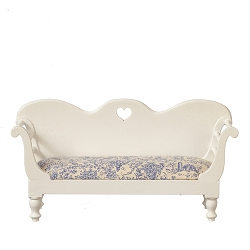 1:12 Scale JBM Miniature French Country White Bench