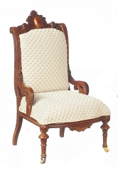 1:12 Scale JBM Miniature 1870 Walnut Restoration Armchair
